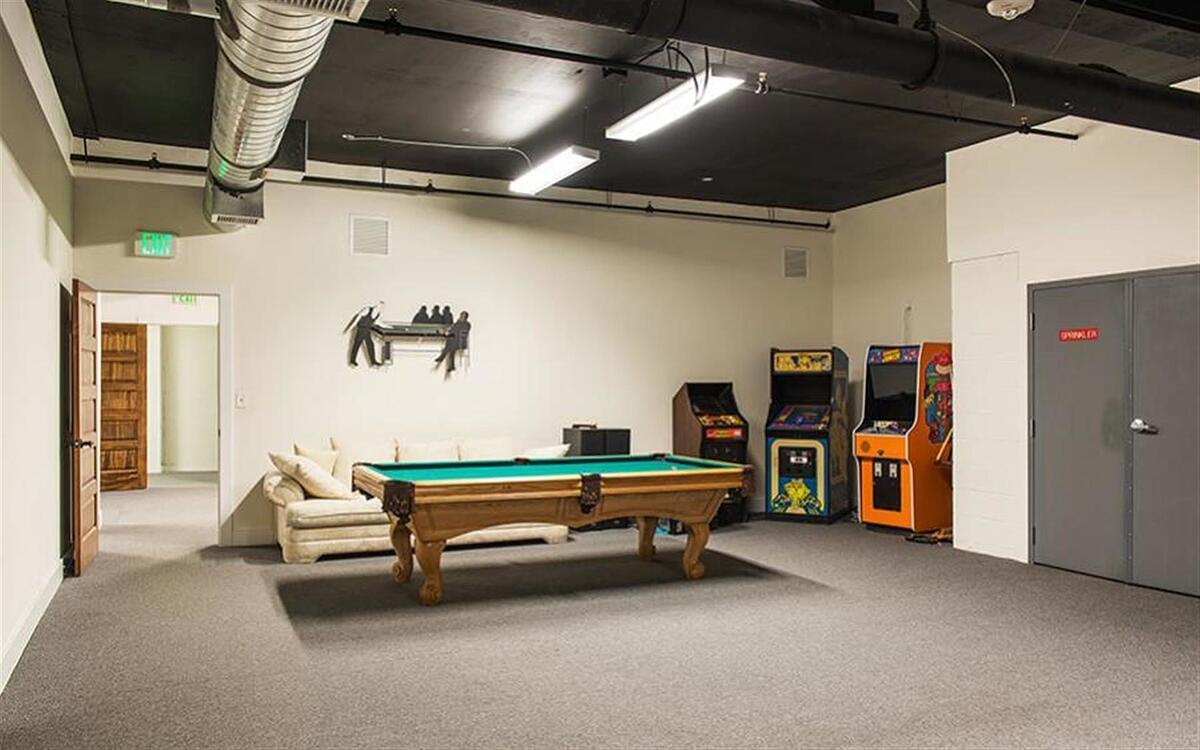 The game room at Creative511 in Denver