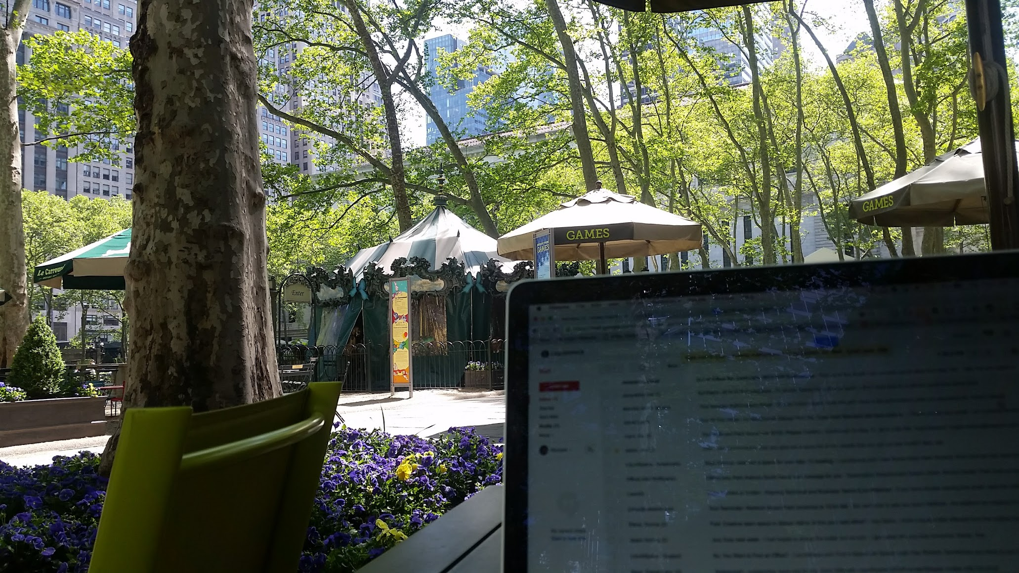 Workspace Freedom means working outside