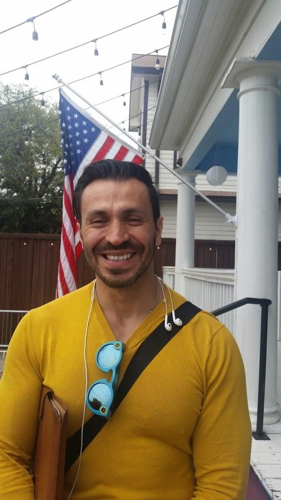 Juan of Wi+Cowork practices Workspace Freedom