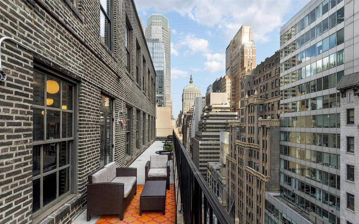 The terrace at WorkHouse in NYC