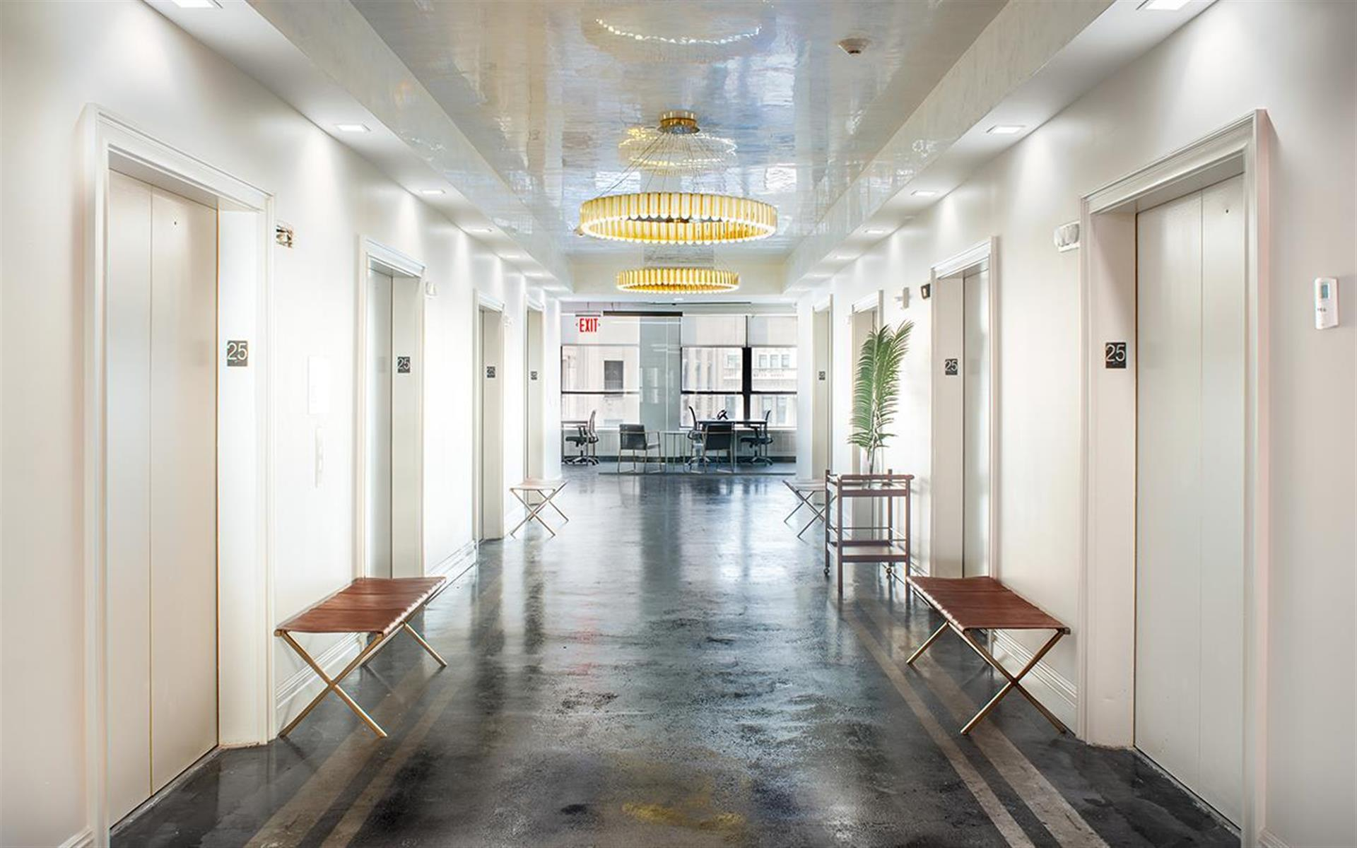 Elevator Lobby area at BOND Collective