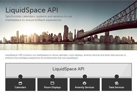 LiquidSpace API screenshot