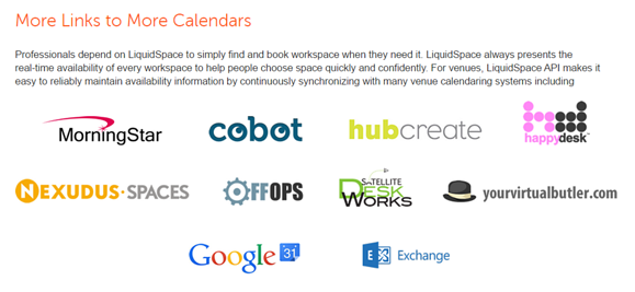 More Links to More Calendars_LiquidSpace API