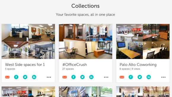 Collections page on LiquidSpace.com