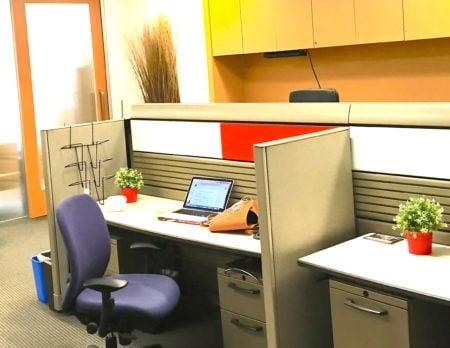 A desk option near the Harborfront