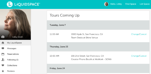Tour view on MyLiquidSpace