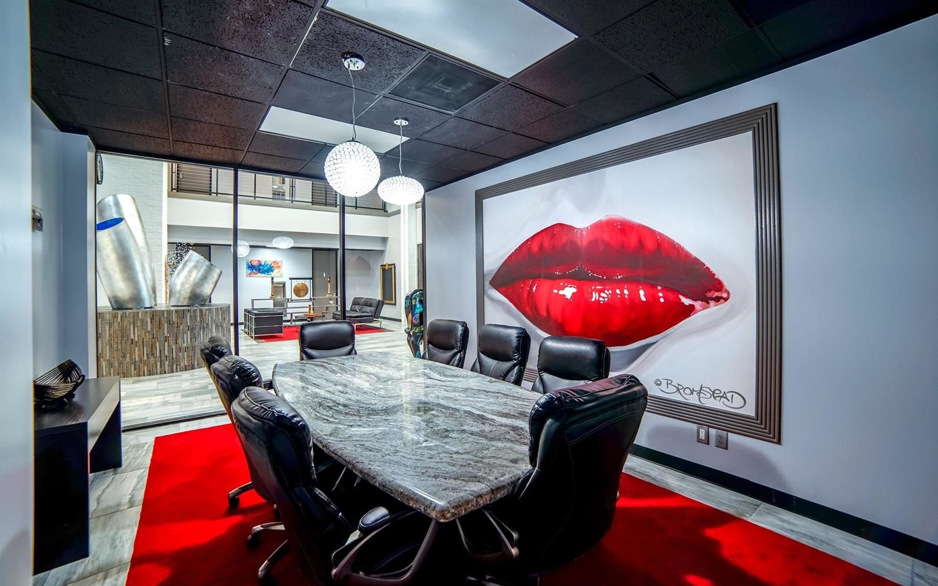 Conference room at Houston Business Lounge