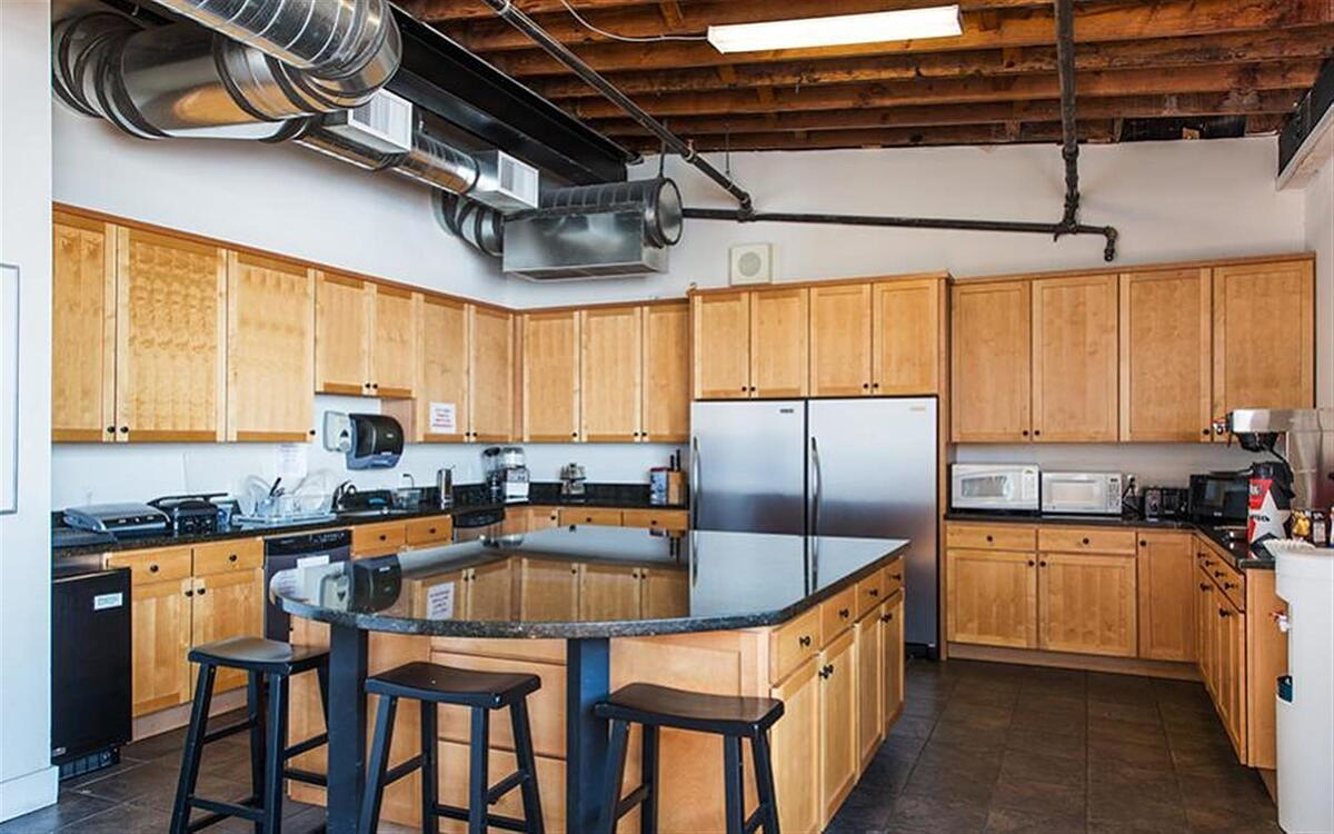 The kitchen at Creative511 in Denver