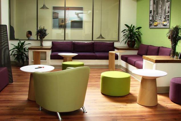 Lounge space at Sandbox Suites