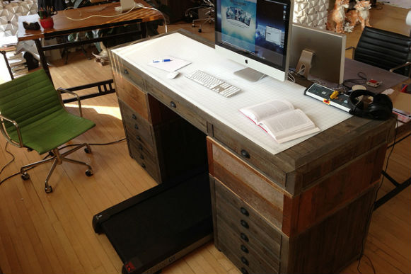 Treadmill desk office space alternatives