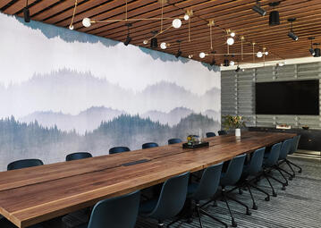 Image of a meeting room space at The Shop