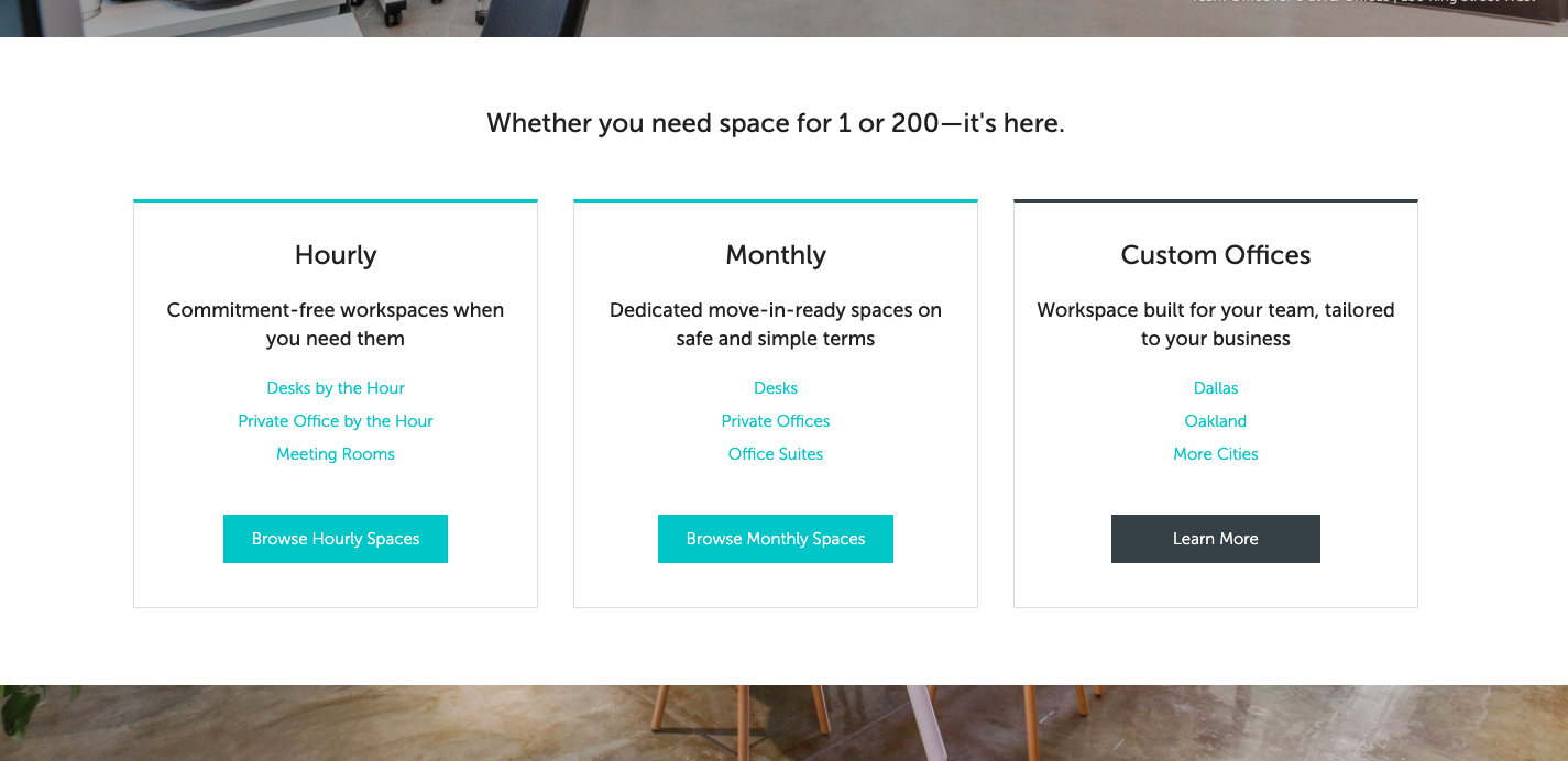 LiquidSpace for hourly and monthly workspace